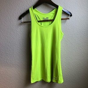 Under Armour neon ribbed fitted workout tank top